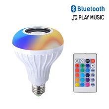 LED Bluetooth Wireless Remote Control Music Light Bulbs 7+3W 110V-265V Color Changing Bulb RGB+White Sound