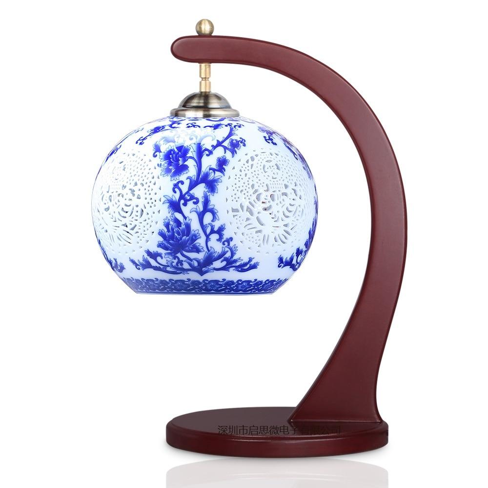 Blue and White Porcel Table Lamp E27 AC110V-240V EU Plug Ceramic Table Lamp Bedroom Bedside Lamp Indoor Living Room Bedroom LampBlue and White Porcel Table Lamp E27 AC110V-240V EU Plug Ceramic Table Lamp Bedroom Bedside Lamp Indoor Living Room Bedroom Lamp