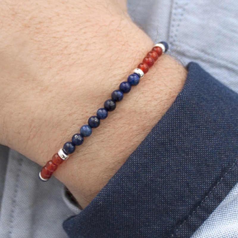 Модные мужские браслеты из бисера классические натуральные очаровательные каменные бусины браслеты ручной работы и браслеты для мужчин wo мужские бусы ювелирные изделия