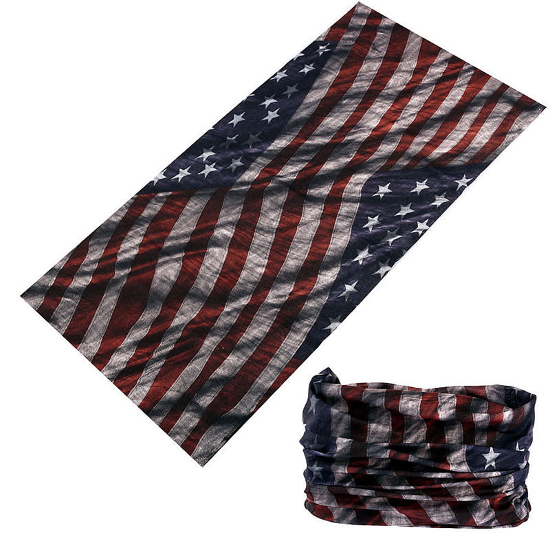Buffe New Design Magic Headband Multifunctional Cycling Bandana Vintage 3D Flag Pattern Face Shield Outdoor Headwear Kerchief
