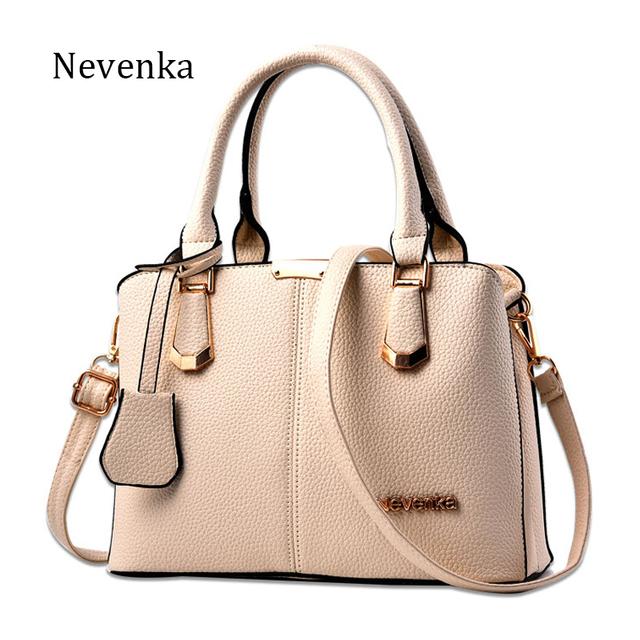 Nevenka Women Bag Lady Handbag OL Style Shoulder Bags Casual Zipper Messenger Bags PU Leather Bag Brand Name Tote Satchel Sac