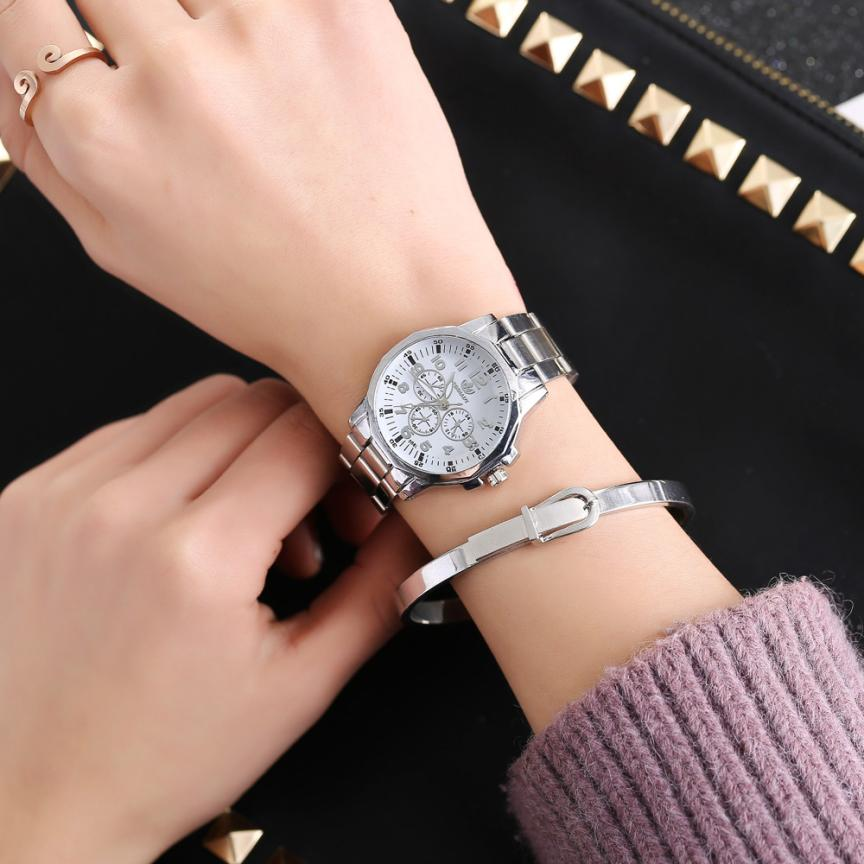 Women Fashion Stainless Steel Band Analog Quartz Round Wrist Watch Watches women's watches famous brand clock women 2018 Casual electric kettle tea black tea pu erh electric kettle health pot automatic insulation steam electric teapot remond