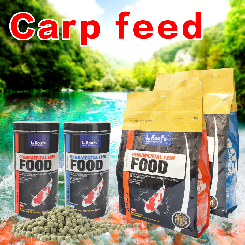 LiKouFu Koi Carp Feed Ornamental Fish Food Goldfish Hyperchromic Particle Type Disease Resistant And Colourful Not Muddy Water