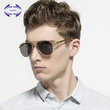 VCKA Cabeza de Leopardo gafas de Sol Polarizadas de Los Hombres Classic Piloto Gafas de Sol de Marco Grande de Metal Aviator Gafas De Sol Polarizadas
