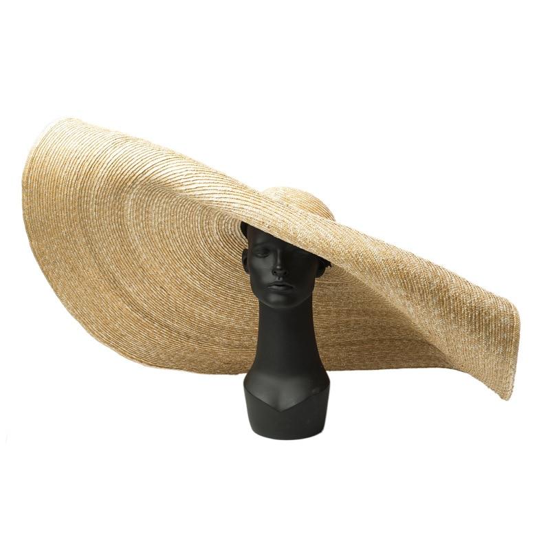 Pré-vente, s'il vous plaît prolonger le délai de livraison à la main 45 cm bord de mariage chapeau de soleil femmes loisirs chapeau prendre photo - 4
