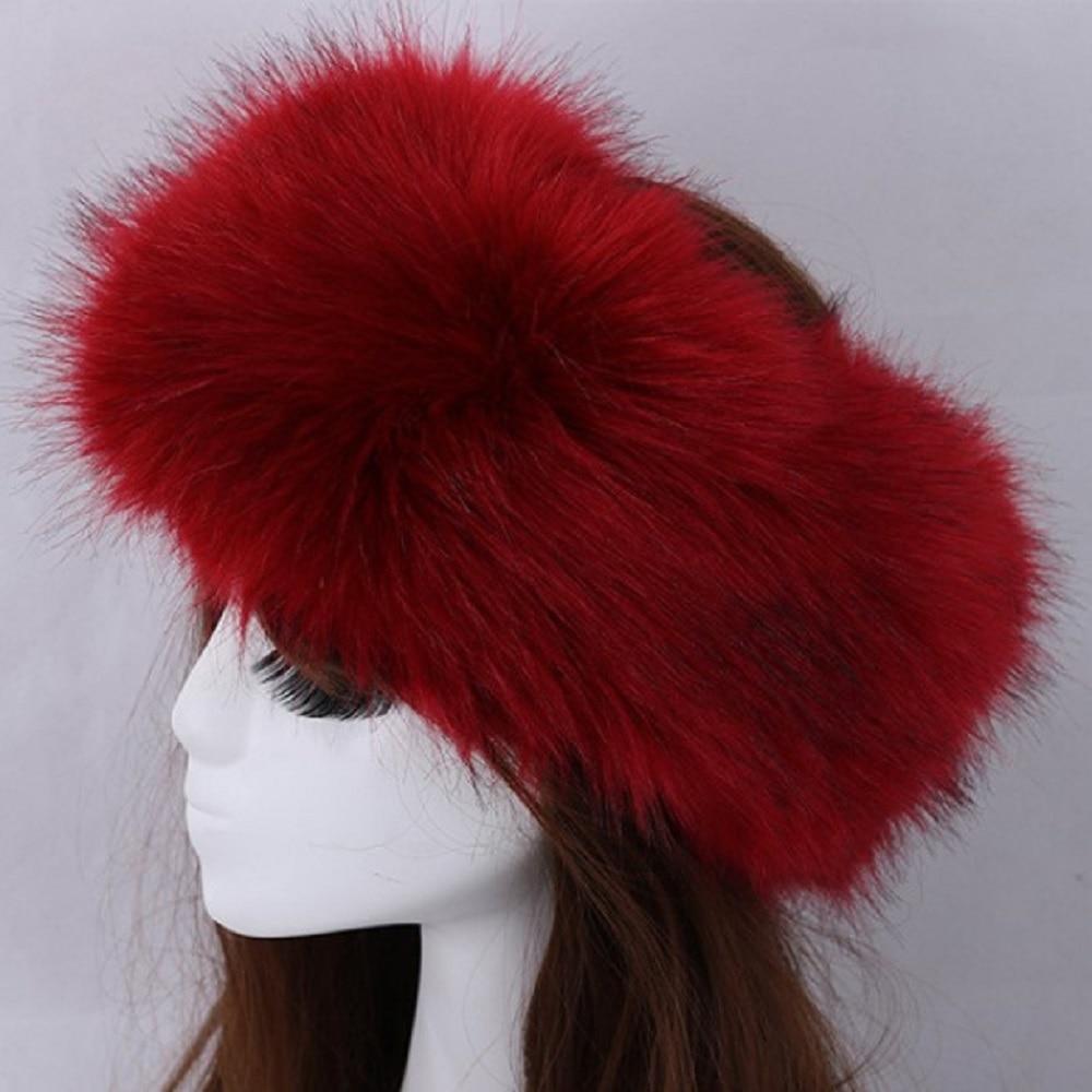 1PC Women Lady Russian Fluffy Fox Fur Muti Color Hat Headband Winter Soft Earwarmer Ski Hat Faux 1PC Fashion Hot