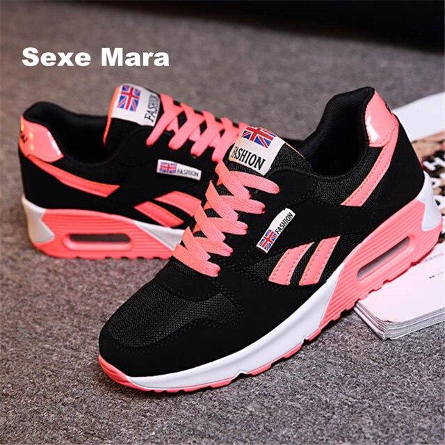 43e3e87920e75 Zapatos Deportivos mujer 2018 nuevas zapatillas mujeres zapatillas para las  mujeres Wedge entrenadores marca deportivas zapatos