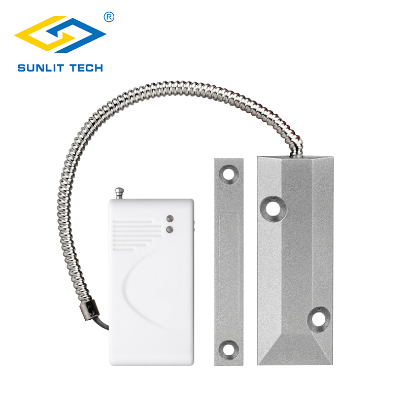 Wireless Rolling Door Sensor Garage Gates Magnetic Detector Roller Shutter Magnetic Contact Sensor for WIFI Alarm G90B Plus, G19 wireless rolling garage door sensor compatible with all of our home alarm system