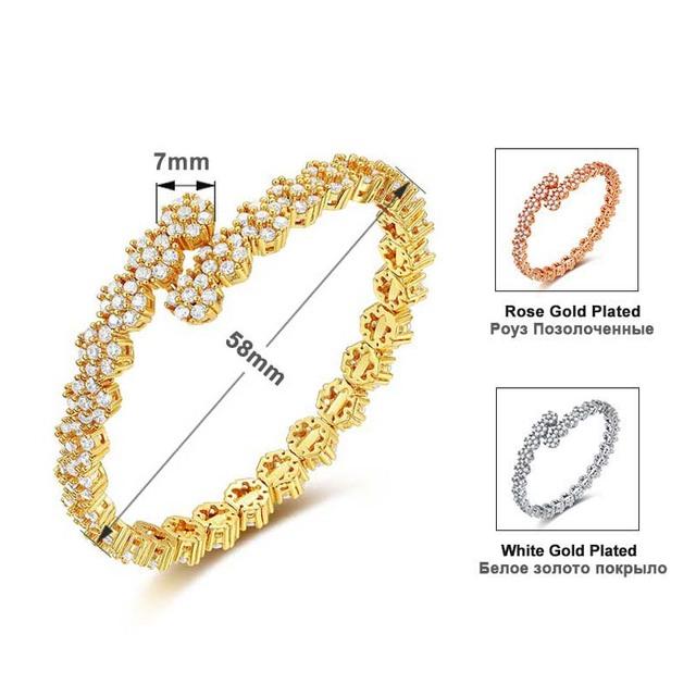 Luxury Three Colors Cubic Zirconia Bracelet