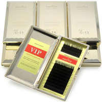 Navina 7 ชิ้น/ล็อต Ultimate Luxury Soft MINK Lashes 0.10C ธรรมชาติยาวขนตาปลอมสีดำ Professional แต่งหน้า Extension Cilia