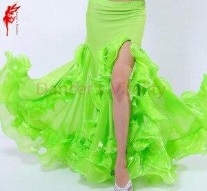 Image 2 - ホット販売! ベリーダンススカート女性ベリーダンススカート女の子ベリーダンスパフォーマンススカート9色女性ダンススカート