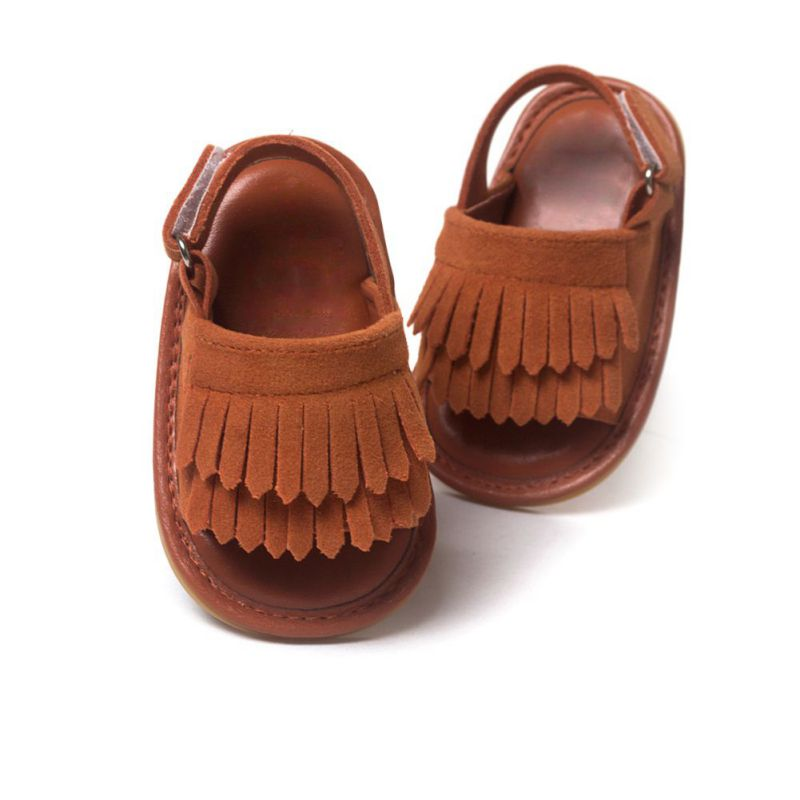 0d7d8bdb3b US $3.07 23% OFF|16 Colors Hot Sale Baby Sandals Summer Leisure Fashion  Baby Girls Sandals of Children PU Tassel Clogs Shoes-in Sandals & Clogs  from ...