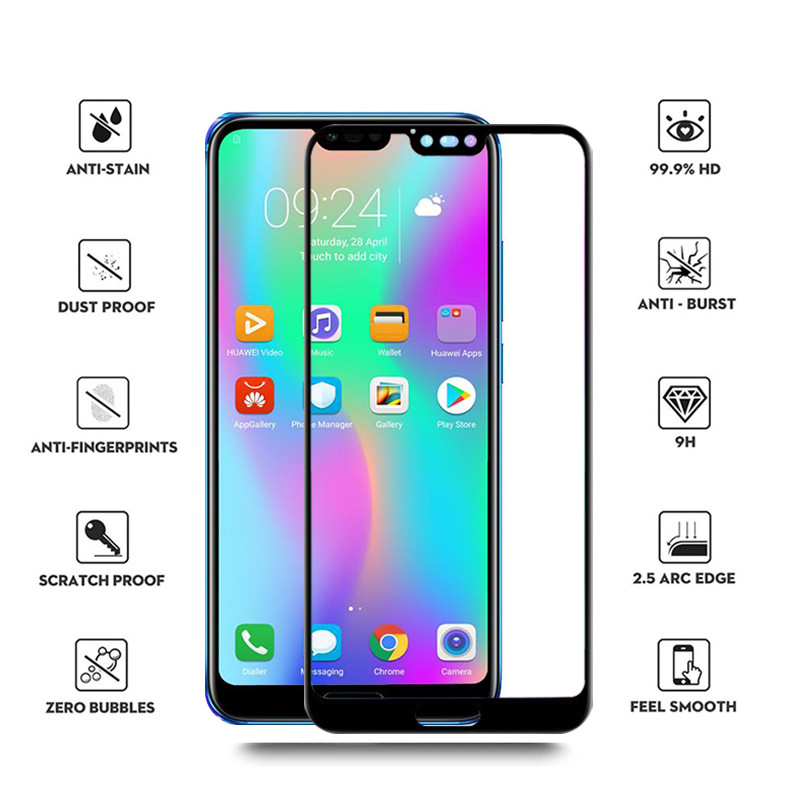 Image 3 - Tempered Glass For Huawei Honor 10 Protective Glass On honor 10 10i COL L29 honor10 honer 10 5.84'' Screen Protector Safety Film-in Phone Screen Protectors from Cellphones & Telecommunications