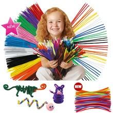 100 piezas niños manualidades palos de peluche hecho a mano arte DIY materiales Shilly Stick juguetes educativos para niños DIY juguetes para los niños