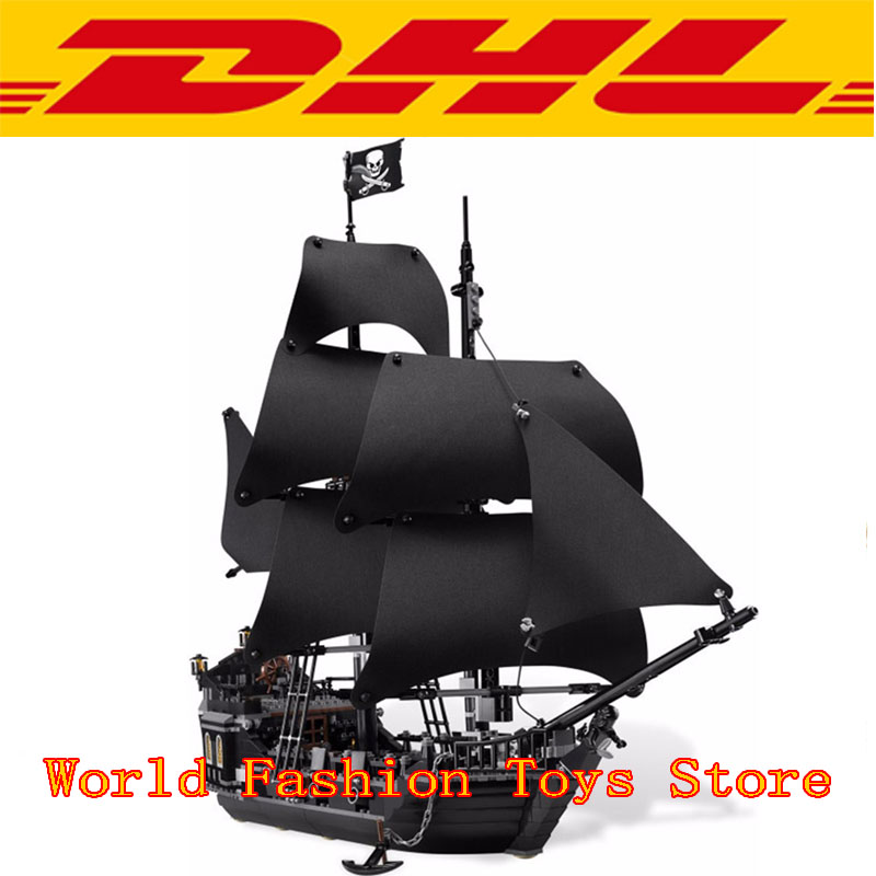 In stock lepin 16006 804Pcs Pirates Of The Caribbean The Black Pearl Ship Model Building Kit Blocks Bricks Toy Compatible 4184
