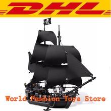 В наличии Лепин 16006 804 шт. Пираты Карибского моря черный жемчуг модель корабля строительство комплект Блоки кирпичи игрушки совместим 4184
