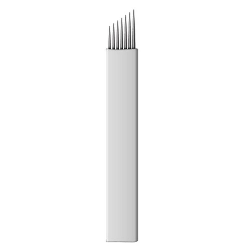 50pcs 7/9/11/12/14 Pins Permanent Makeup Eyebrow Tattoo Needles Flexible Blade For 3D Microblading Blade Tebori Needles Blade SS