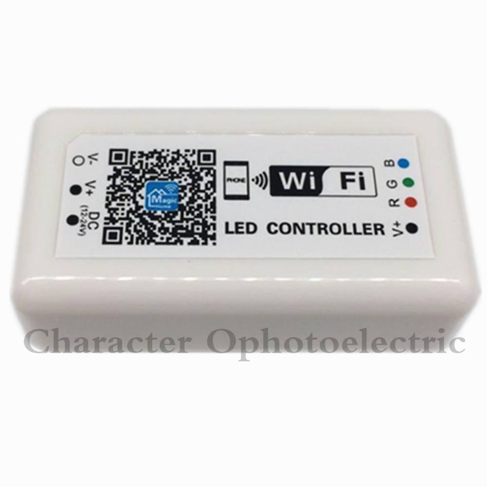 1pcs WIFI LED RGB Controller DC12 24V for RGB LED Strip Applicable to IOS and Android Mobile in RGB Controlers from Lights Lighting