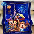 Discounts!Disneyland Pairs Cartoon Royal Blue Minnie Mickey Mouse Throw Blanket on Bed Sofa Couch 130X170cm Kids Gift