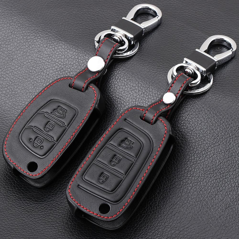 Чехол для ключей Hyundai I20, чехол из натуральной кожи для Hyundai I20, I30, I35, I40, IX20, IX35, Solaris, Verna, Santa Fe, Creta, I10, Tucson, Elantra