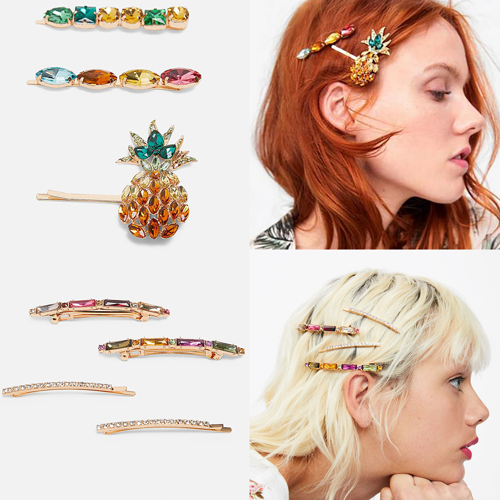 Ztech New Trendy ZA Crystal Hair Pins for Women Brand Design Hair Jewelry Shell Simulated Pearls Hair Clips Bobby Pin Gifts in Hair Jewelry from Jewelry Accessories