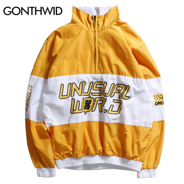 Gonthwid Color Block Patchwork Pullover Jackets Men Stand Collar Zip Up Track Casual Jacket 2017 Autumn Male Hip Hop Streetwear by Gonthwid