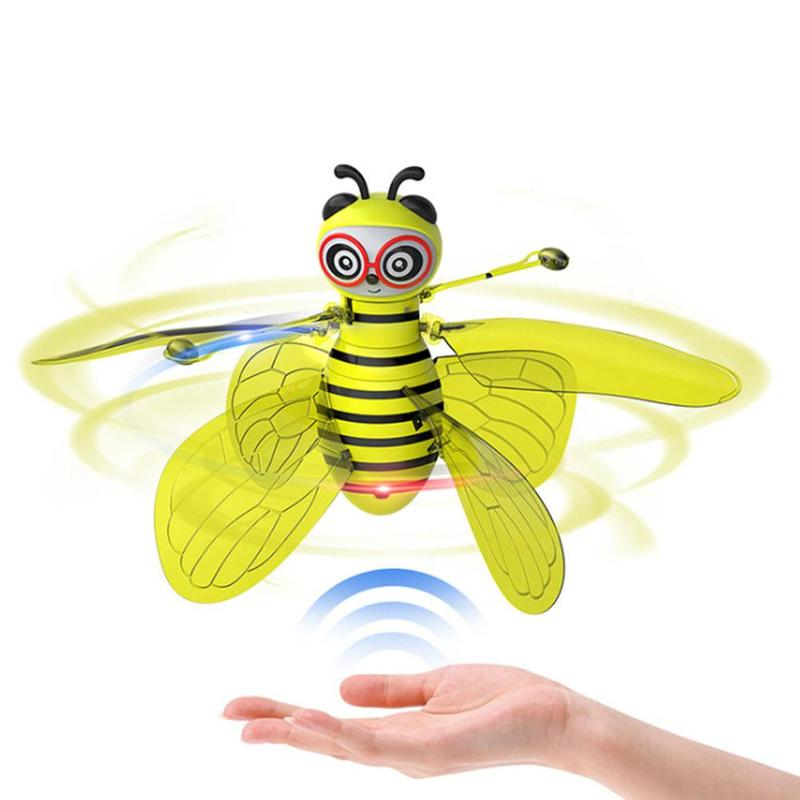 Bee RC Aircraft Infrared Remote Control Aircraft No Camera Cute Stable Universal Hover Indoor Induction Mini Romote Bee Toys image