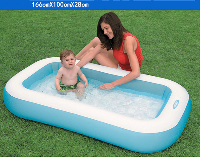 2017 Children's Pool Baby Bathtub Inflatable Paddling Pool Inflatable Children Piscina Kinder Schwimmbad Rectangle Swimming Pool