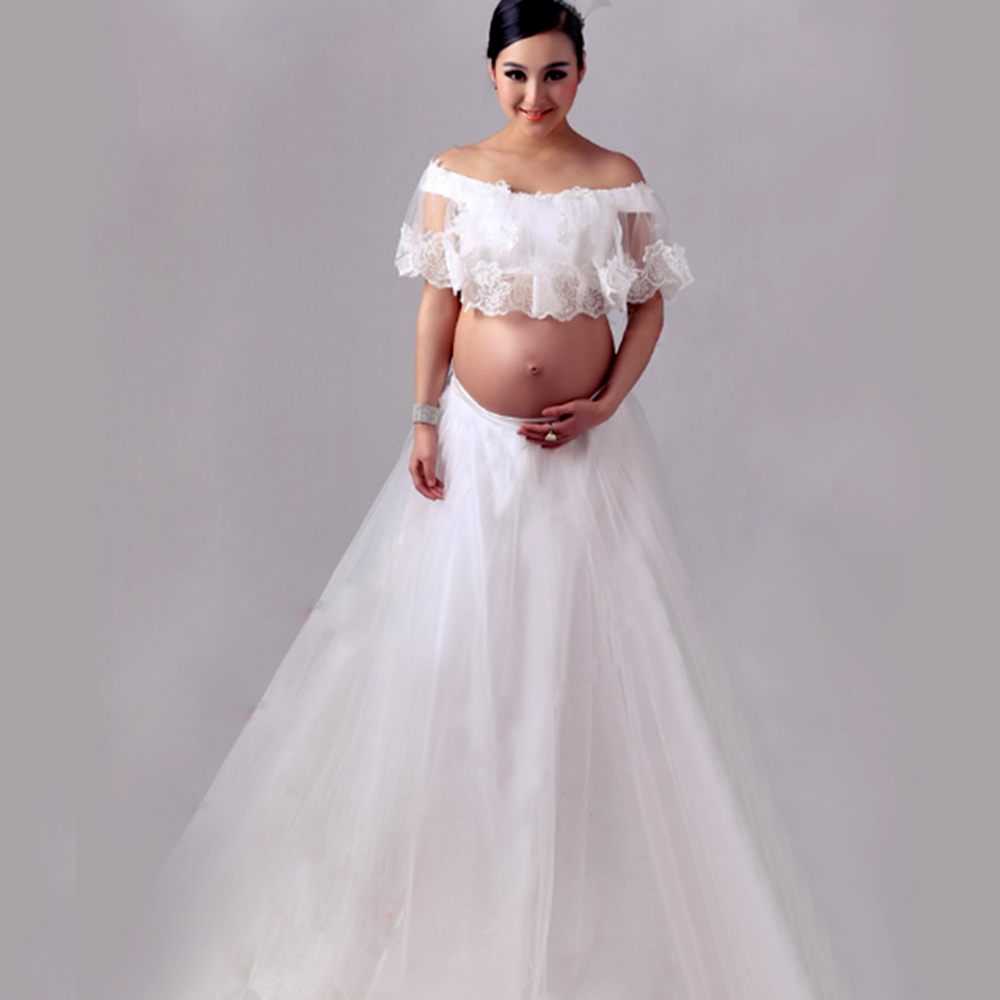 2017 maternity lace dress pregnant photography props fancy 2017 maternity lace dress pregnant photography props fancy pregnancy royal style white sleeveless long dresses in dresses from mother kids on ombrellifo Image collections