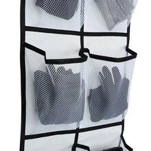 12 больших сетчатых карманов, подвесной органайзер для обуви, аккуратная коробка для хранения, подвесные сумки, настенная сумка, комнатные тапочки для хранения обуви