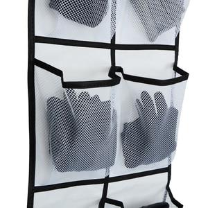 12 Large Mesh Pockets Hanging Shoe Organiser Rack Tidy Storage Box Hanging Bags Wall Bag Room Shoes Slippers Storage