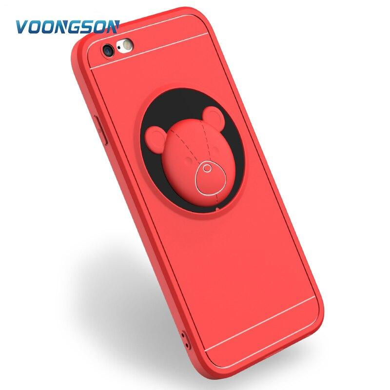 Слон ТПУ Телефонные Чехлы для Apple iPhone 7 8 плюс 5 5S SE Носки с рисунком медведя из мультика задняя крышка кремния panda чехол мягкий для iPhone 6 6S плюс