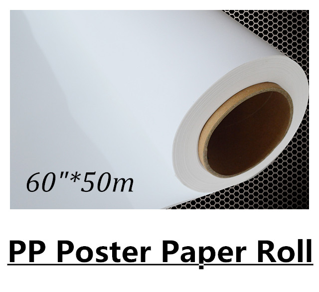 60in 50m Waterproof Pigment based Polypropylene PP Paper Roll