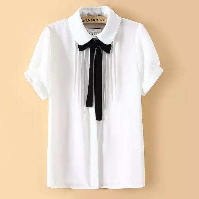 Plus Size Bow Tie Blouse