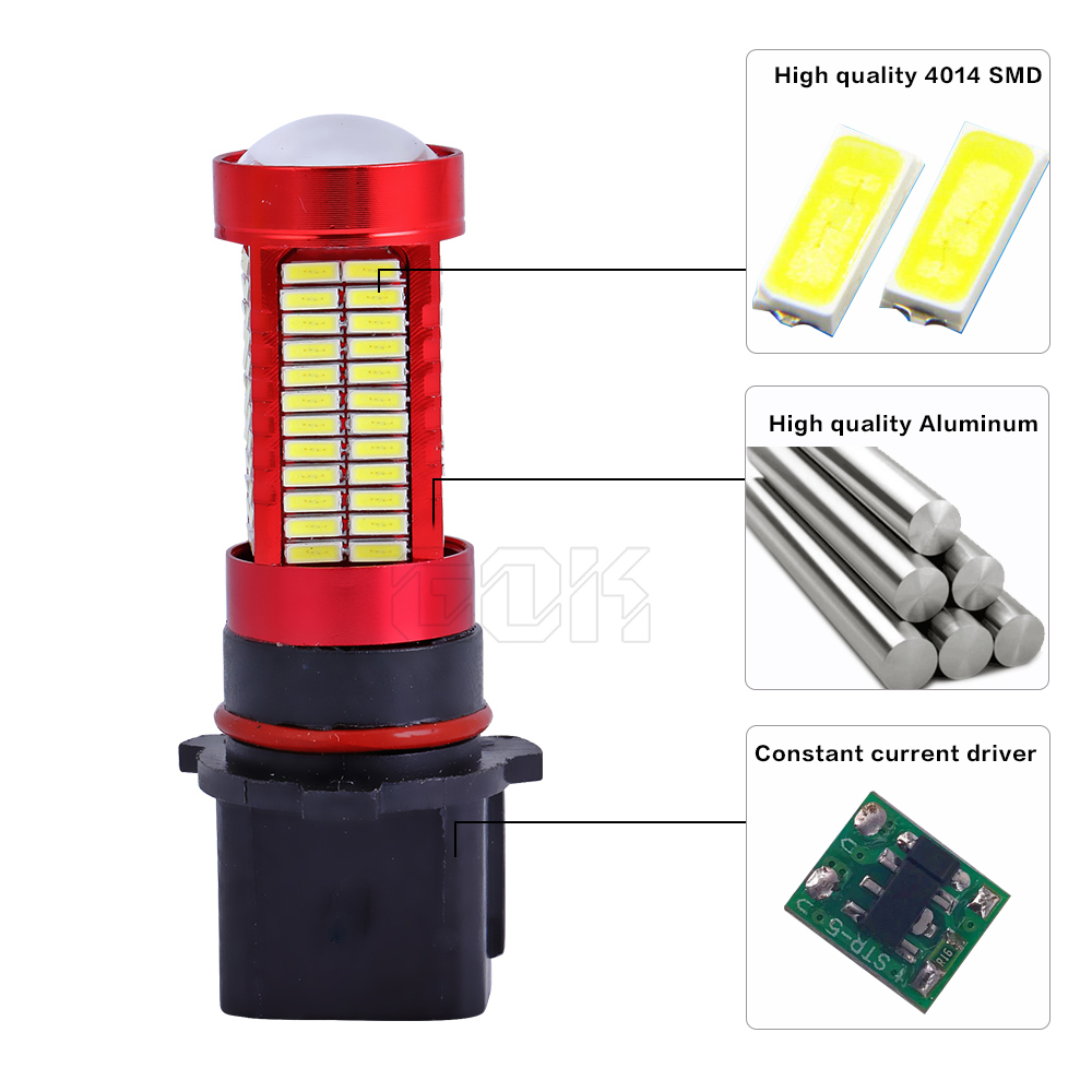 1pcs samodejno voden H16 P13W LED 106SMD 4014 LED avtomobilski - Avtomobilske luči - Fotografija 4