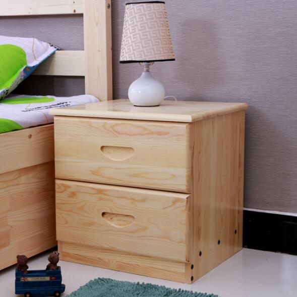 High quality Wooden Nightstand Storage cabinet With drawer Organizer Detachable Assembly Bedside table bedroom fashion furniture