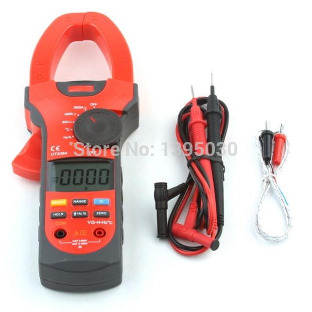 1PC UT208A Clamp Mini Power Digital Multimeter AC DC Volt/Amp/Ohm Capacitance Tester unit ut 61e ut61e digital handheld multimeter tester dmm ac dc volt ohm frq