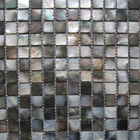 Free Shipping Natural Black Mother Of Pearl Mosaic Tiles Kitchen Backsplash Tiles Bathroom Mosaic Tile 20x20MM