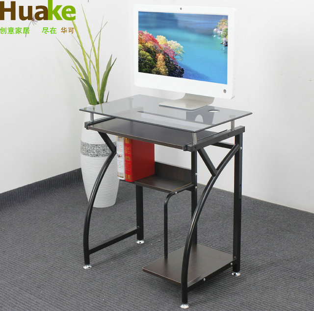 China May 65cm Gl Desktop Computer Desk Study Table 65 Cm Movable Small With Wheels