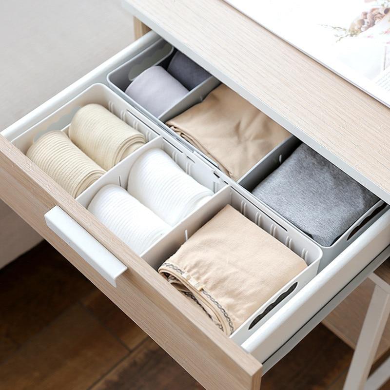 LSAPERAL Underwear Organizer Kitchen Bathroom Sundries Office Organizers Adjustable Movable Drawer Style Storage Box Bins Bra