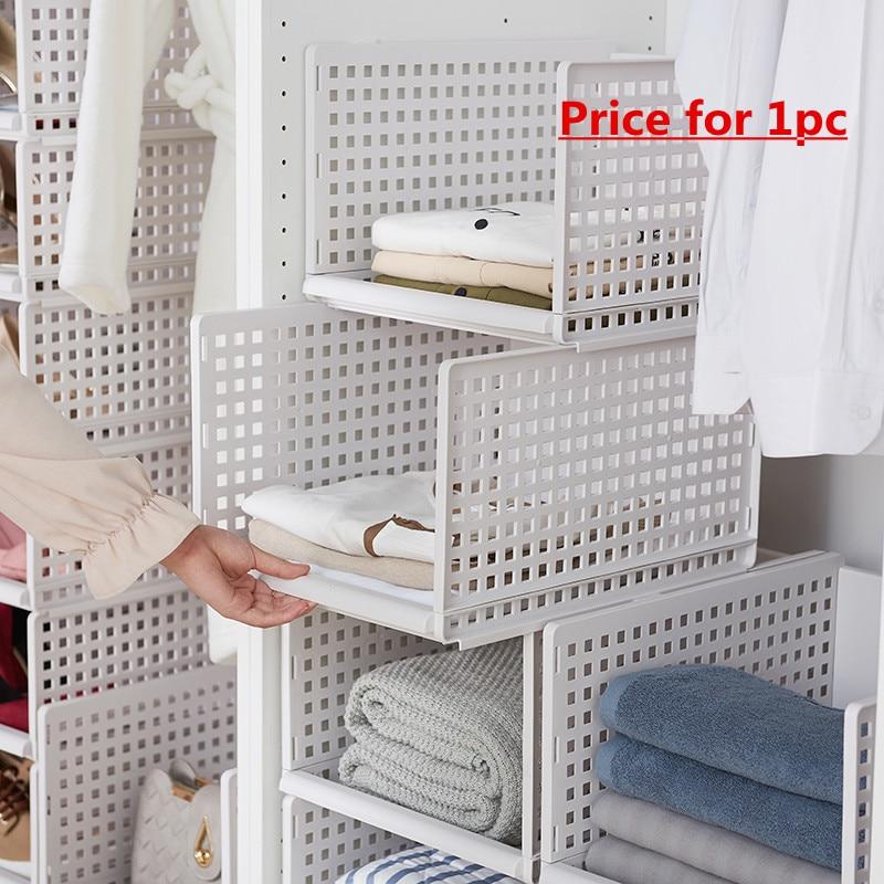 Image 2 - wardrobe partition board rack, drawer type clothes storage box, bedroom cabinet, interlayer wardrobe, storage rack.-in Storage Holders & Racks from Home & Garden
