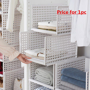 Image 2 - wardrobe partition board rack, drawer type clothes storage box, bedroom cabinet, interlayer wardrobe, storage rack.