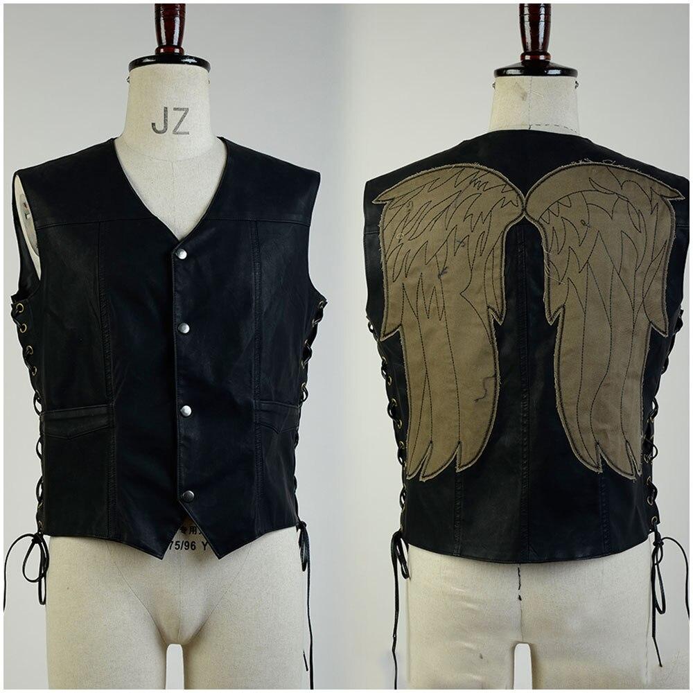 The Walking Dead Daryl Dixon Vest angel Wings Jacket Motorcycle Vest Halloween Sexy Costume For Adult Men
