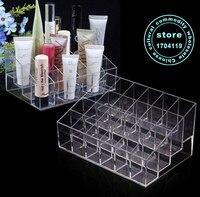24 Lattice Transparent Cosmetic Box Jewelry Box Makeup Organizer Storage Box Nail Polish Rack Lipstick Frame