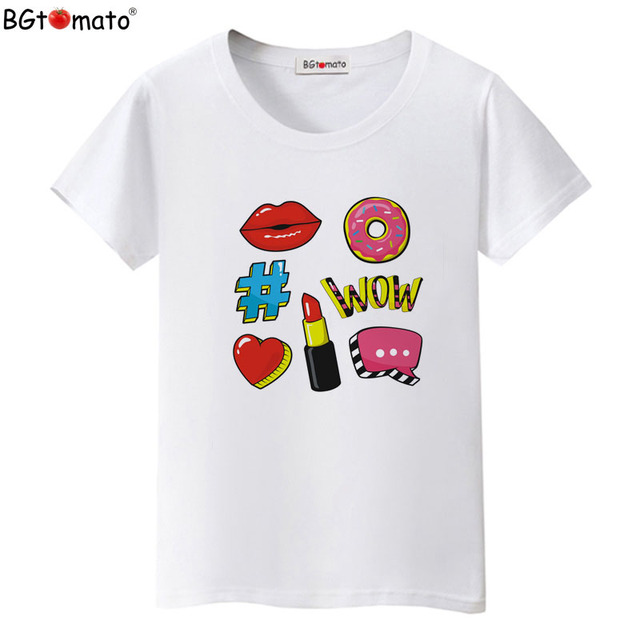 d3984da2cc US $7.53 42% OFF BGtomato T shirt Creative design summer beautiful tshirt  women Super fashion clothes Hot sale tee shirt femme summer tops-in  T-Shirts ...