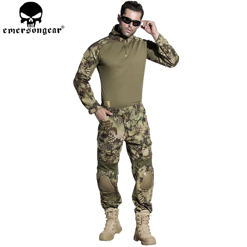 EMERSONGEAR Airsoft G2 BDU Hunting Clothes Combat Shirt Pants with Elbow Knee Pads Tactical Military Hunting Uniform MR EM6925 desert digital camo hunting clothes with gen2 knee pads combat uniform tactical gear shirt and pants army bdu set page 9