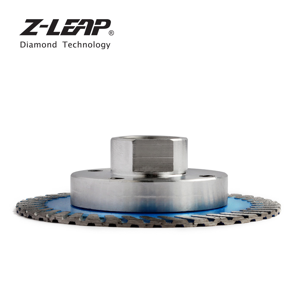 Image 2 - Z LEAP 75mm Diamond Mini Turbo Cutting Blade With Removable Flange M14 5/8 11 Diamond Carving Disc Saw Blade For Stone Granite-in Saw Blades from Tools