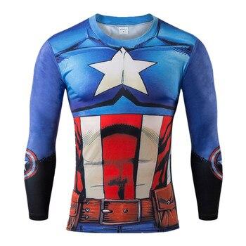 3 d T shirt men Super hero T Shirt Captain America Civil War Tee 3D Printed T-shirts Men Fitness Clothing Male Crossfit Tops Лосины