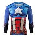 3 d camiseta de los hombres super hero t shirt capitán américa Guerra Civil Camiseta 3D Impreso Camisetas de Los Hombres Ropa de Deporte Masculina Crossfit Tops