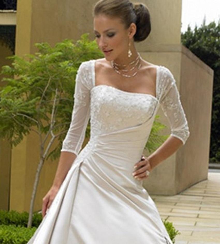 Vistoso Vestidos De Novia De Raso Blanco Ideas Ornamento Elaboración ...